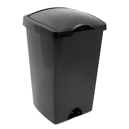 Addis Black Lift Top 48 Litre Bin