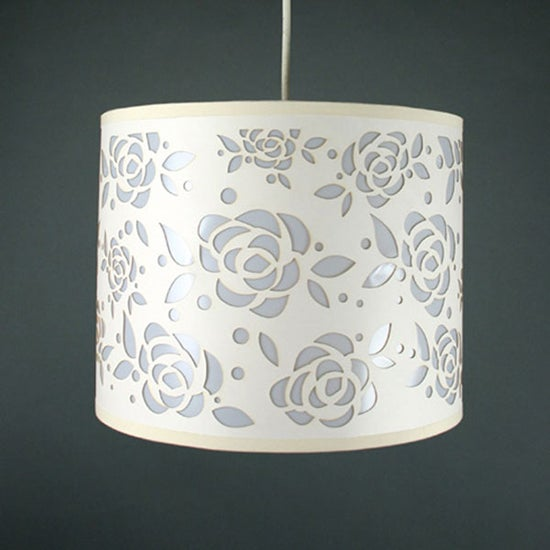 Laser Cut Rose Ceiling Pendant Shade