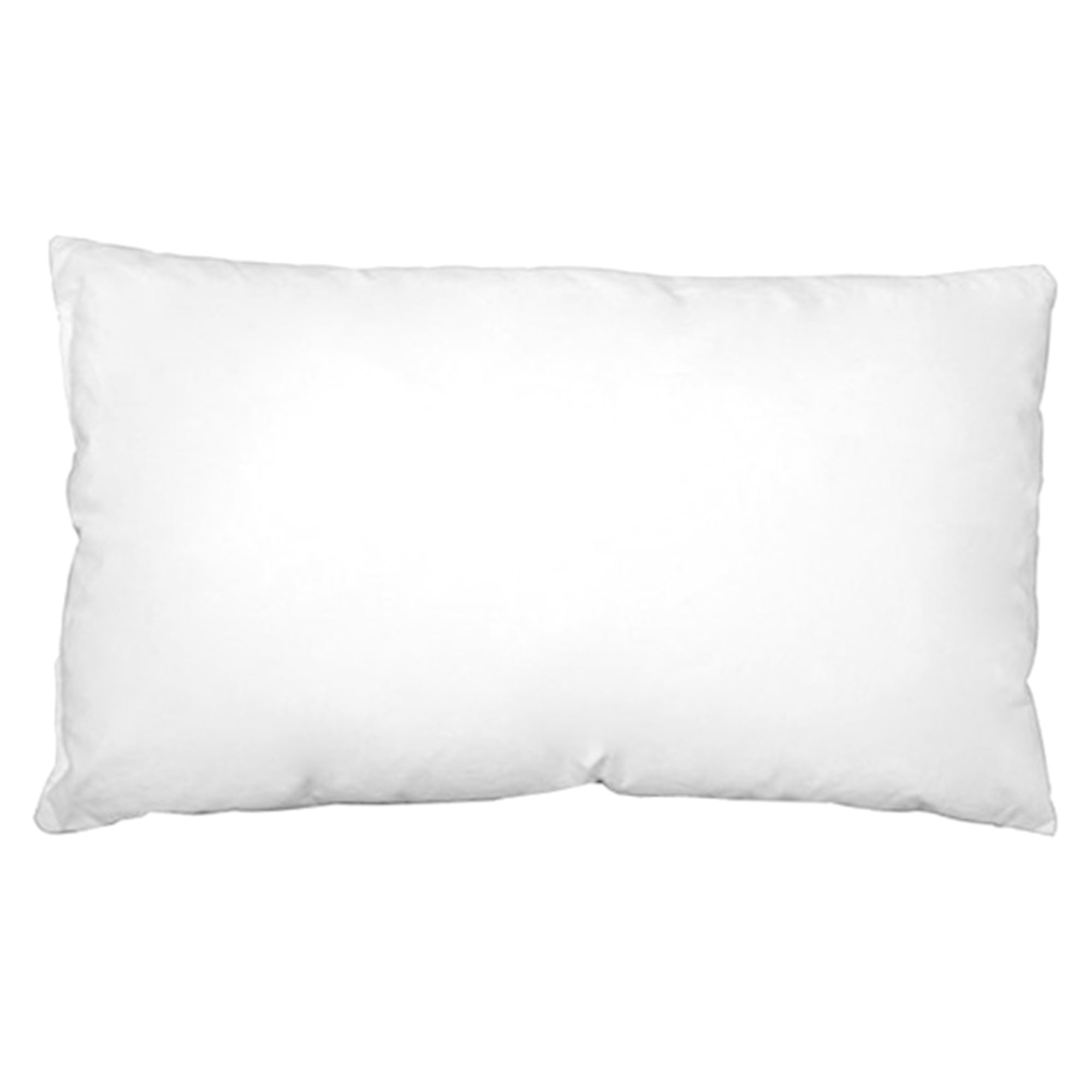 White Piped Boudoir Cushion Pad