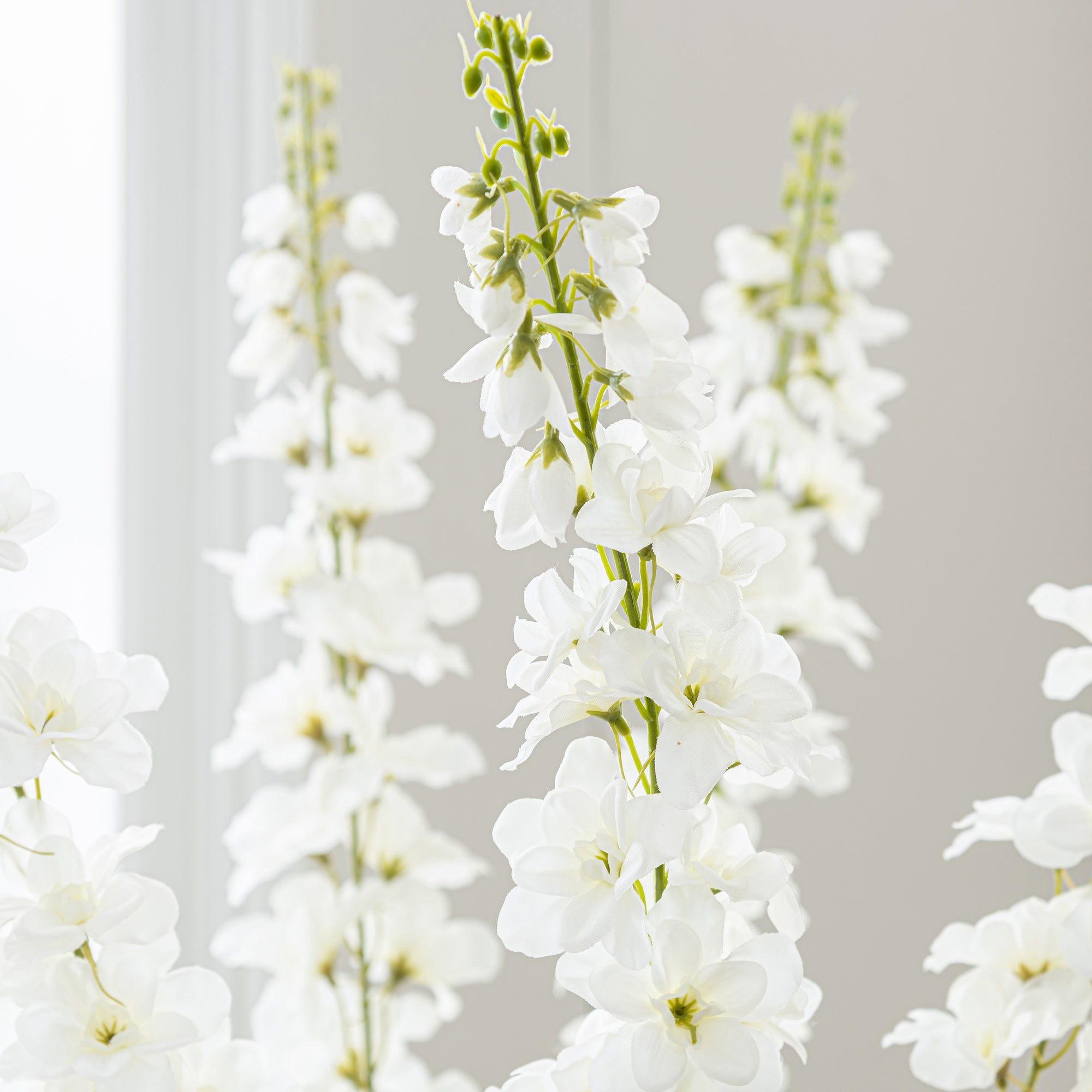 Artificial Cream Delphinium Flower Spray