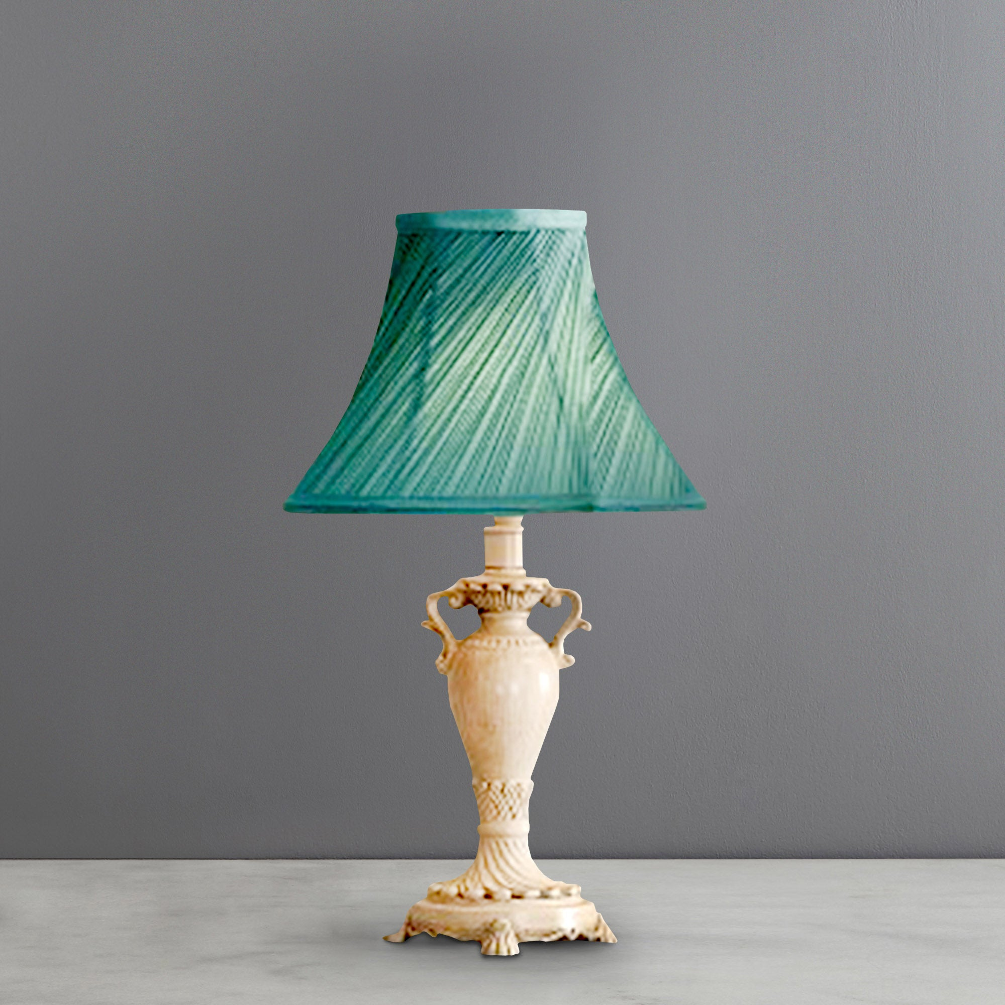 Twist Pleat Resin Ivory Table Lamp