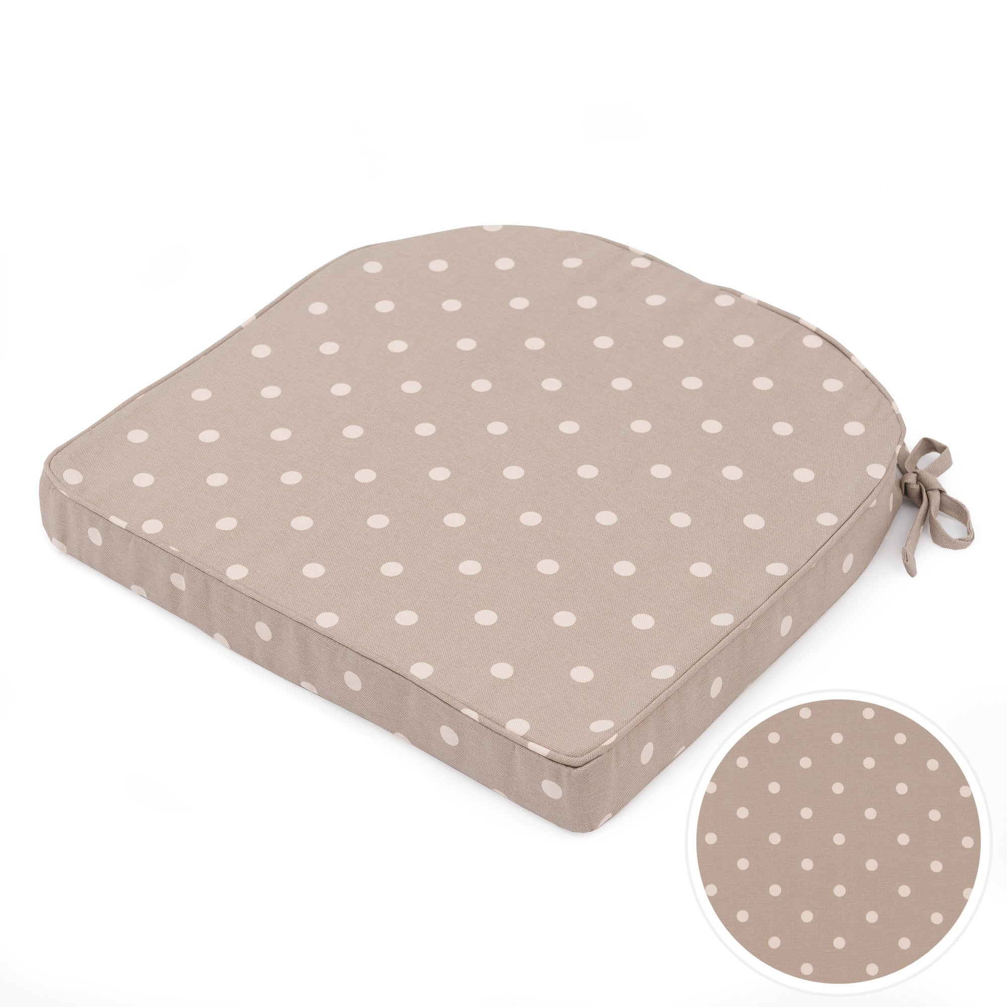 Taupe Dotty Collection Seat Pad