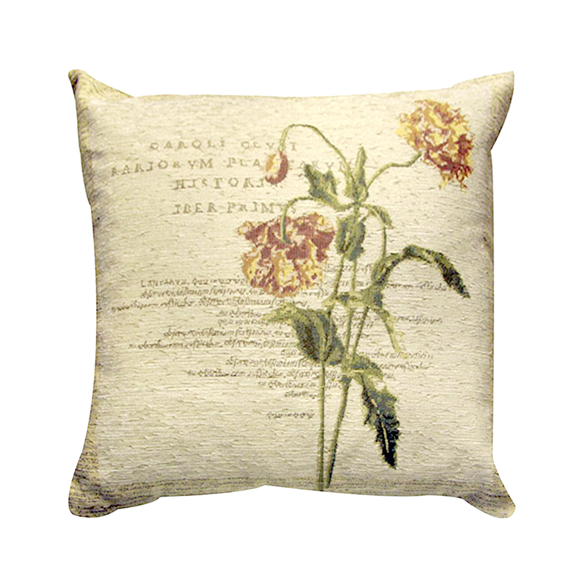 Wine Carnation Collection Cushion