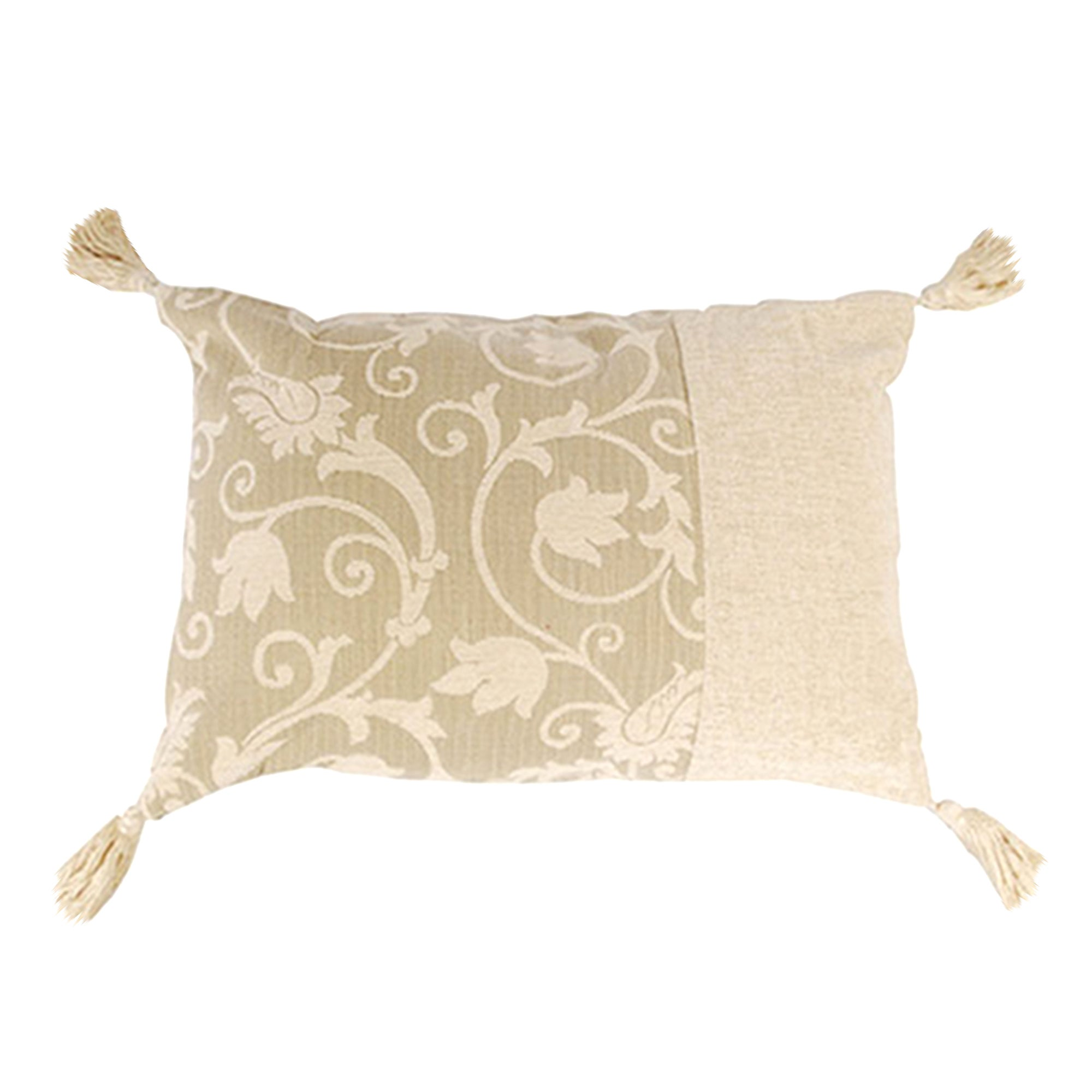 Scroll Tasselled Cushion
