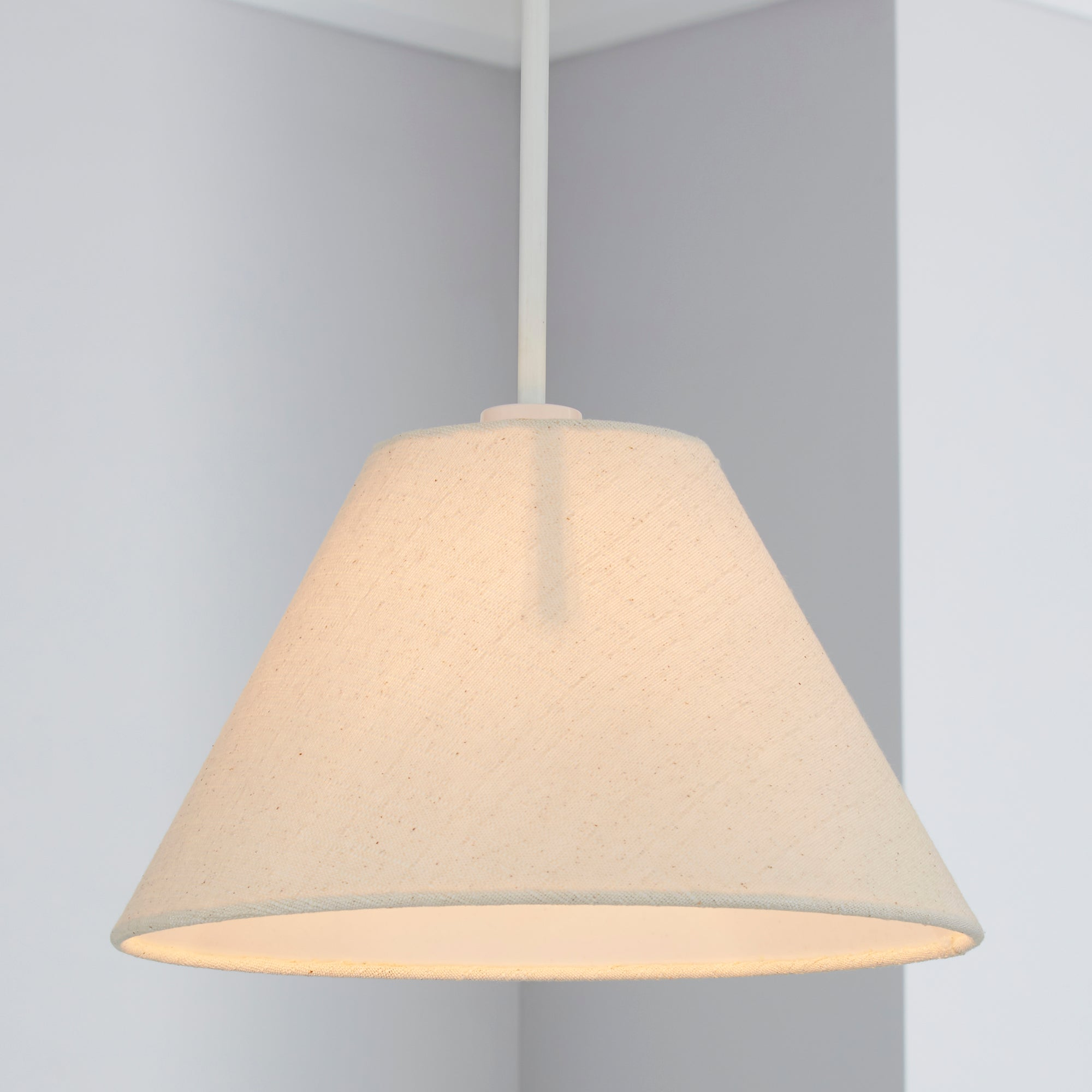 Linen Coolie Ceiling Pendant Shade