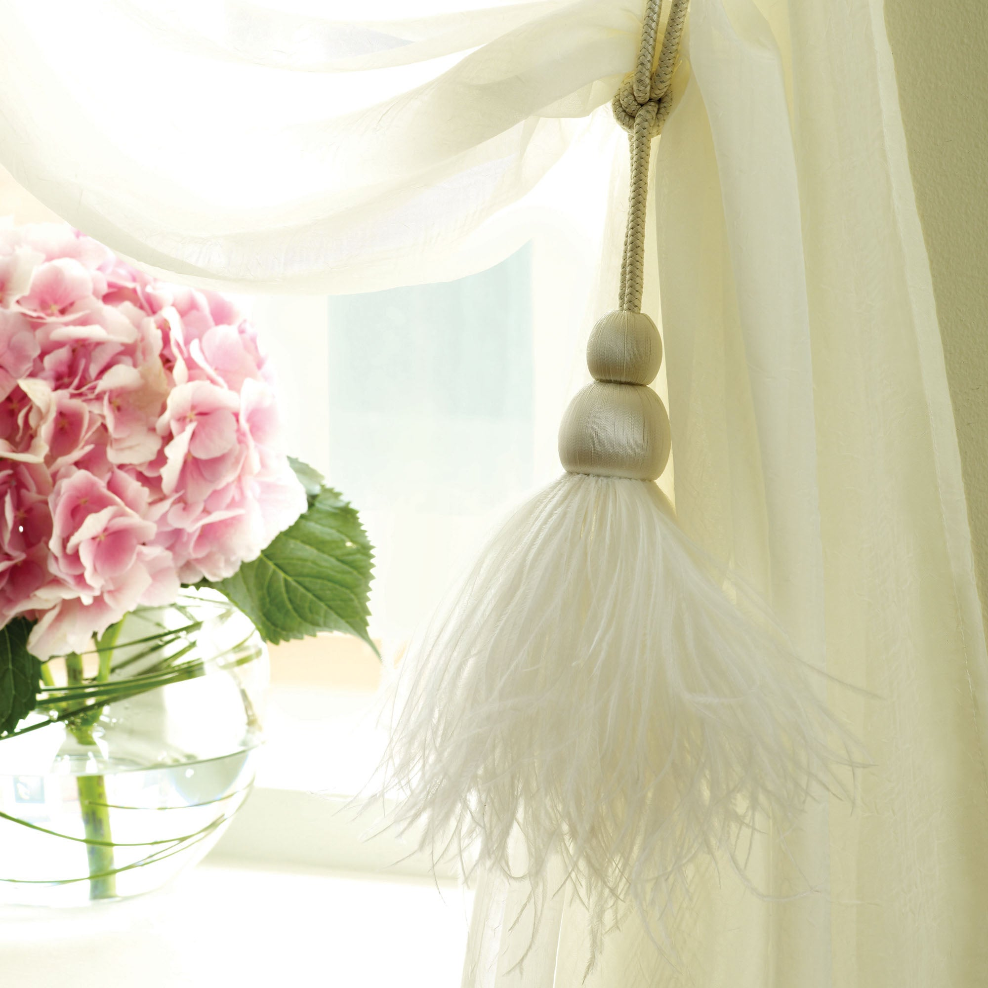 Feather Curtain Tieback