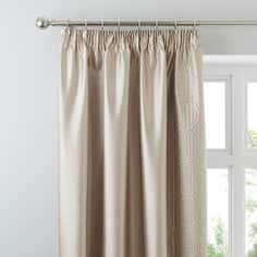 Latte Circles Collection Curtains