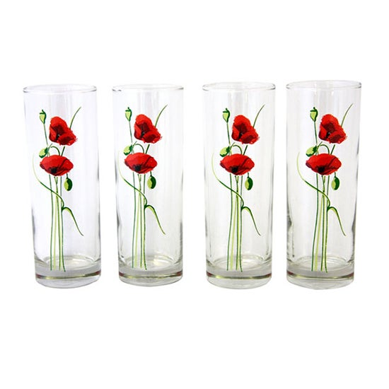 Poppy Collection Pack of 4 Tumblers