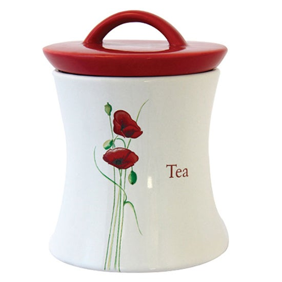 Poppy Collection Tea Storage Jar