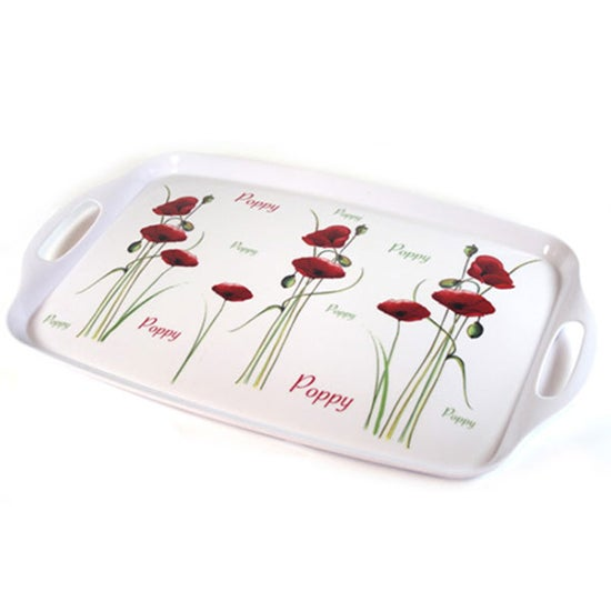 Poppy Collection Handled Tray
