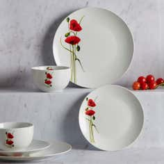 Poppy Collection 12 Piece Dinner Set