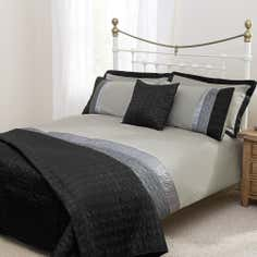 Black Quilted Star Collection Duvet Cover