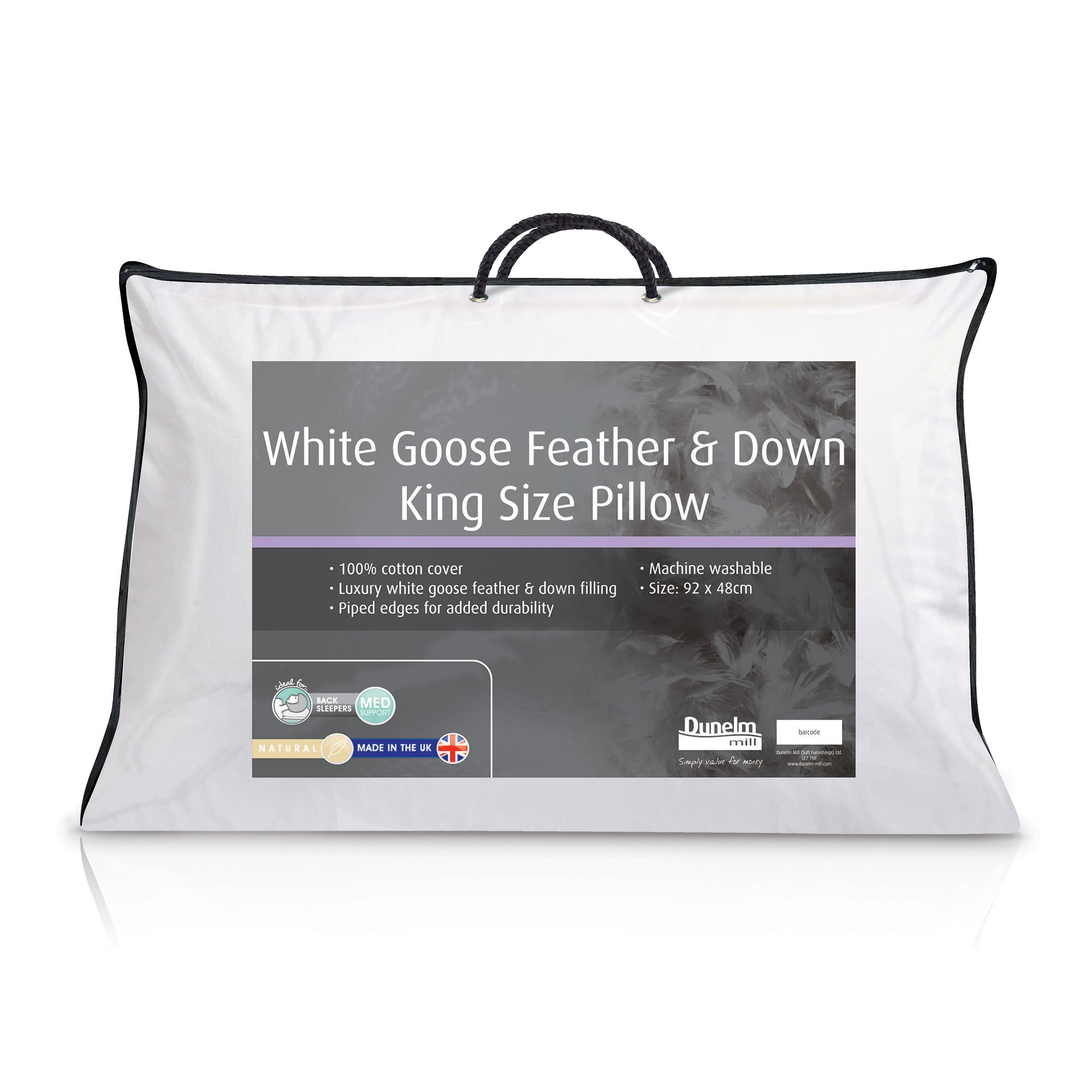 Goose Feather and Down Kingsize Pillow