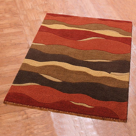Red Morass Wool Rug