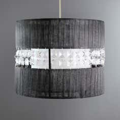 Voile and Beads Ceiling Pendant Shade
