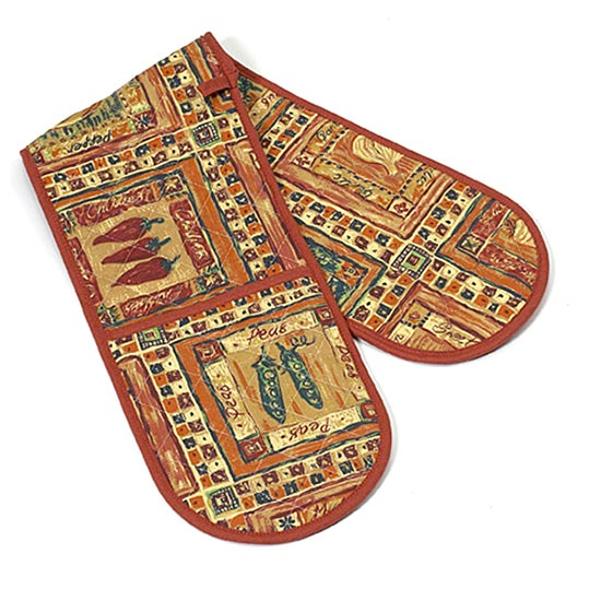 Chillies Collection Double Oven Glove