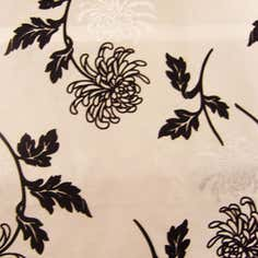 Charlotte Flock Cream Fabric