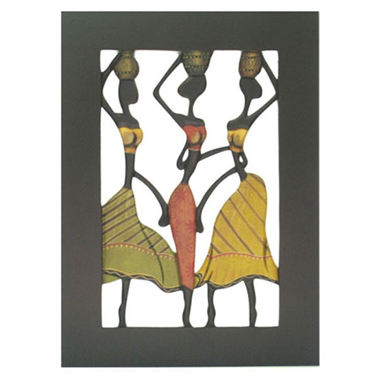 Ethnic Wood Plaque Wall Art