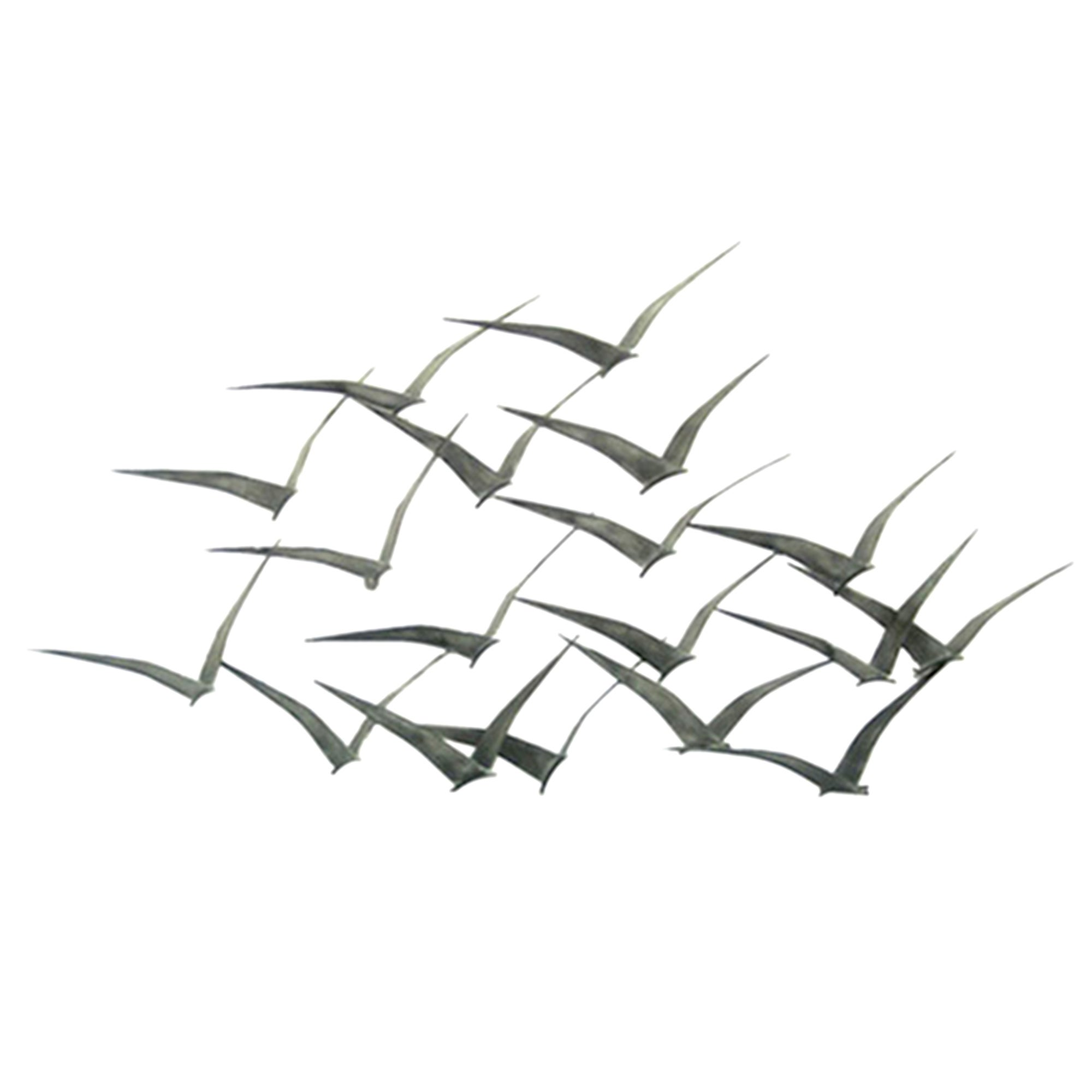 Flock of Metal Flying Birds Wall Art