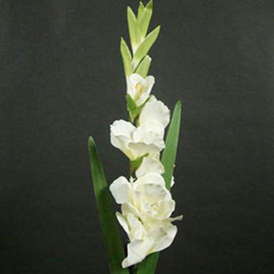 Artificial Cream Gladiolus Flower Stem