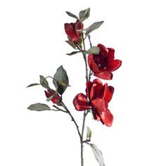Artificial Red Magnolia Flower Spray