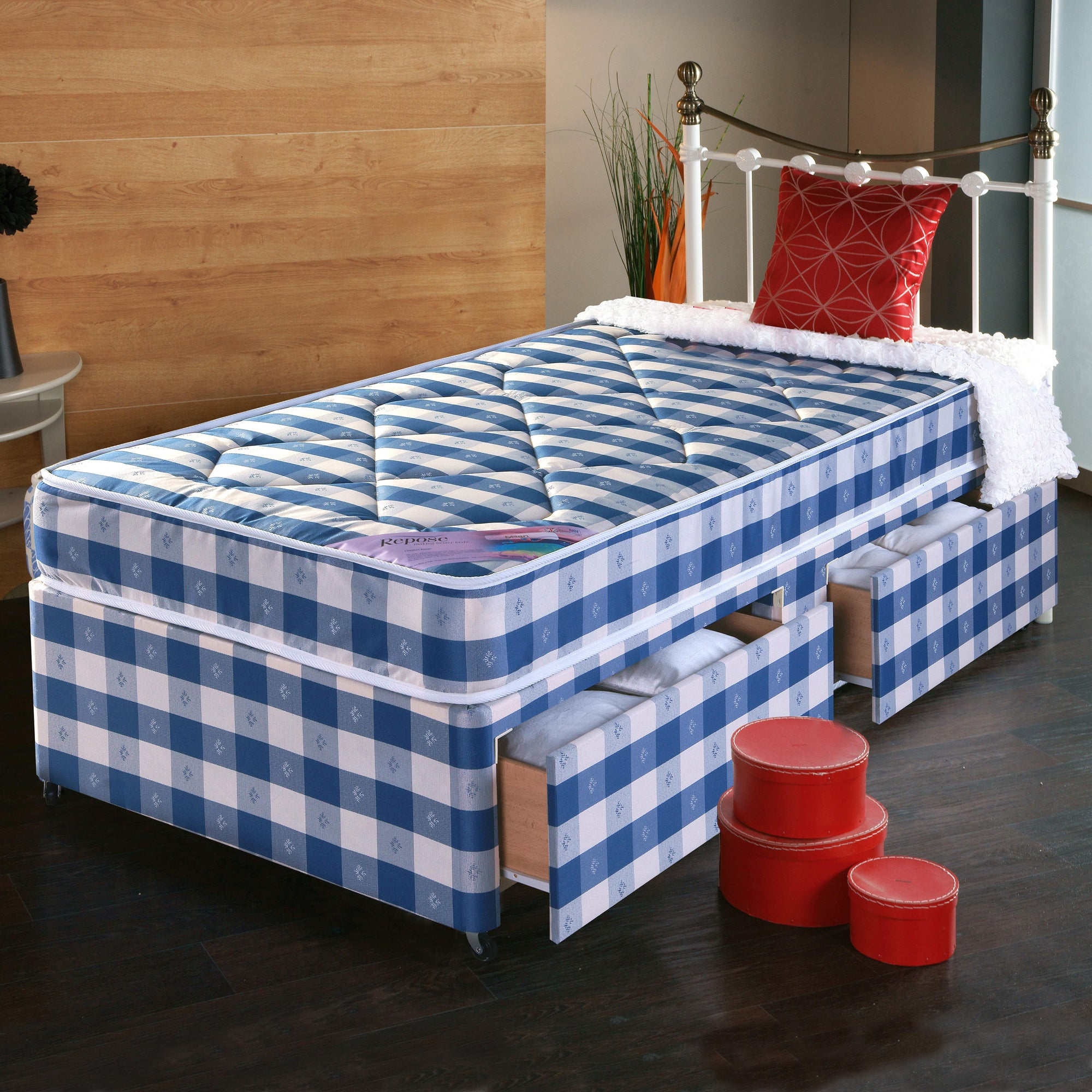Quilted Comfort Two Drawer Divan Bed