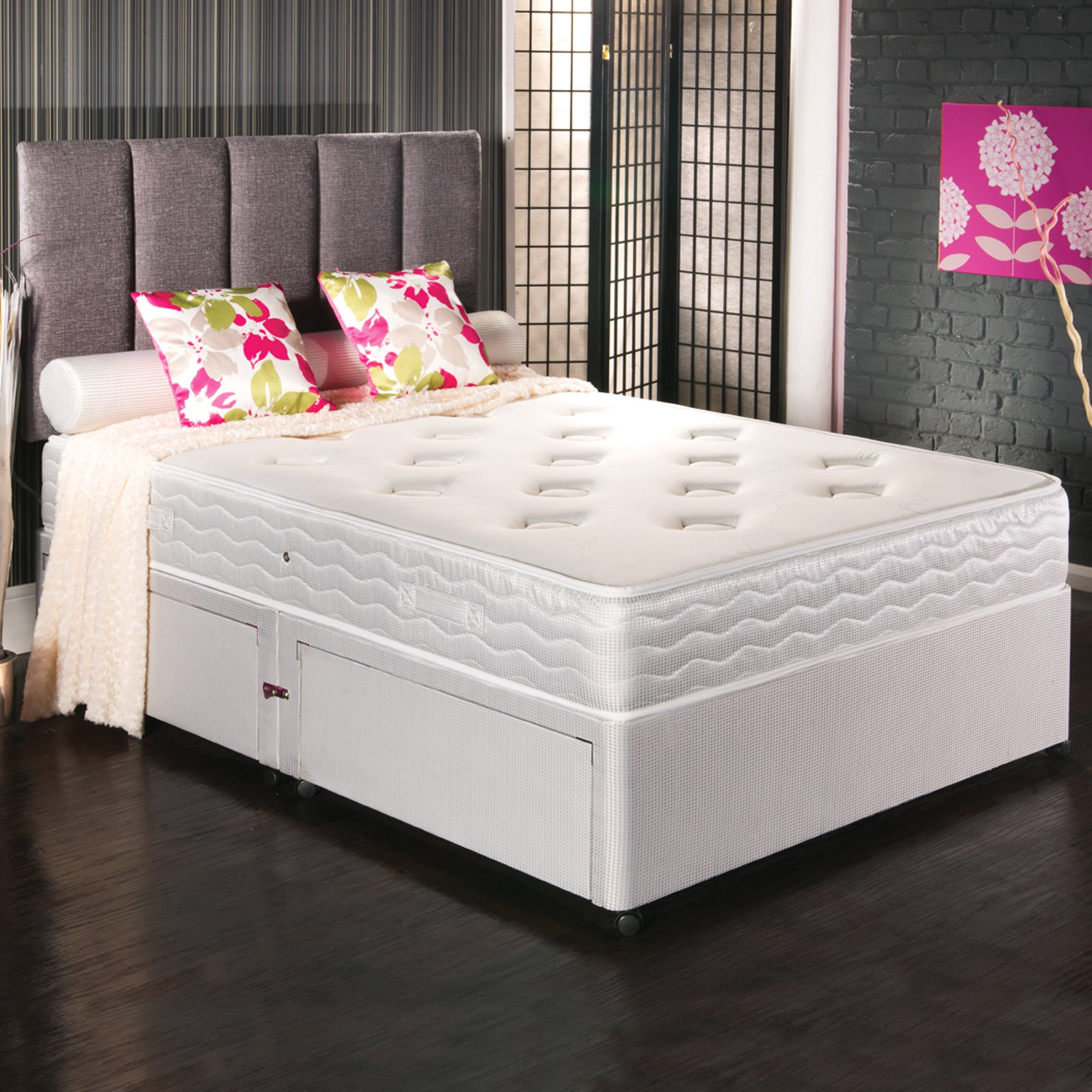 Double bed headboards shop for cheap beds and save online for Double divan bed no headboard