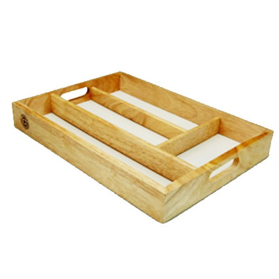 Wooden Cutlery Tray
