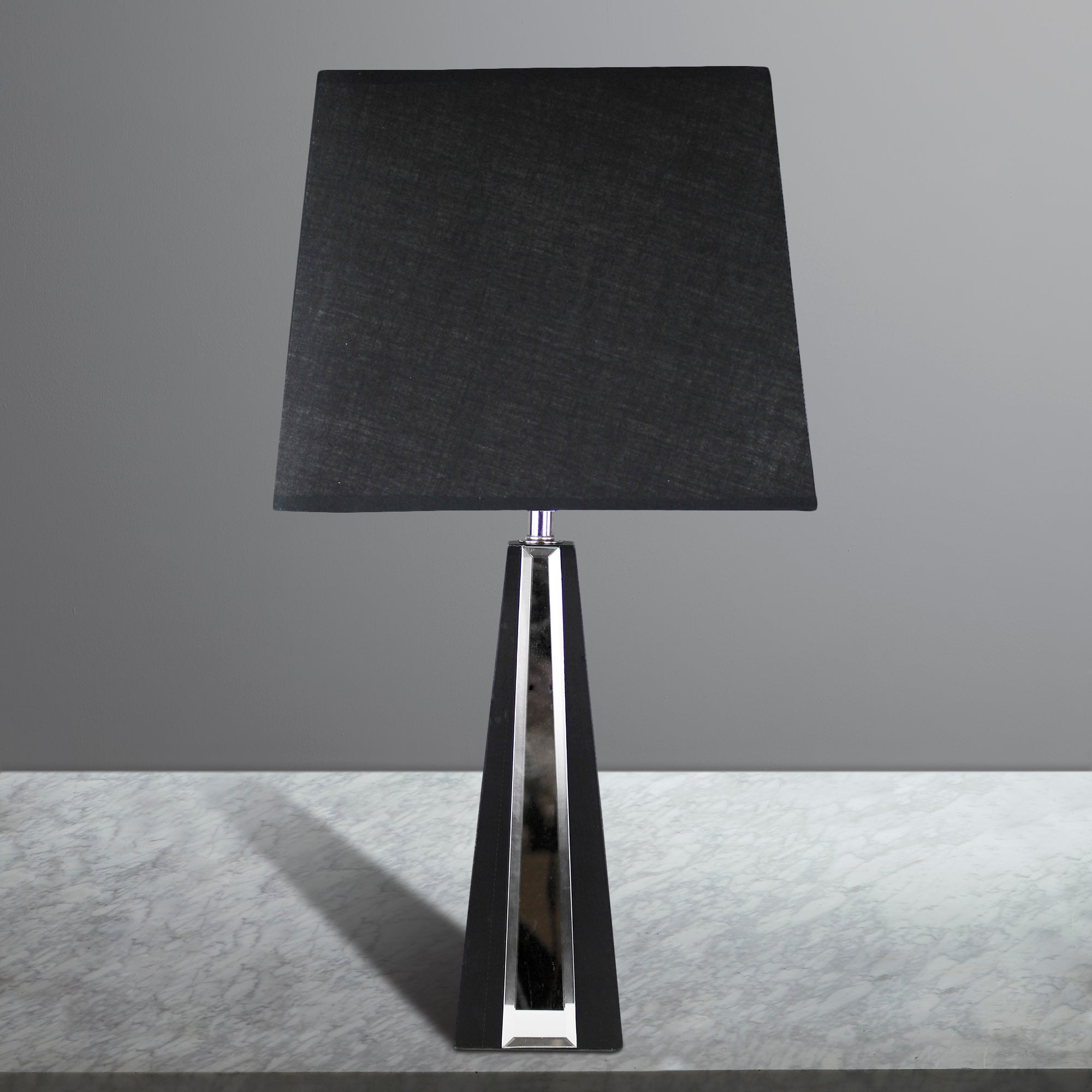 Pyramid Mirror Table Lamp