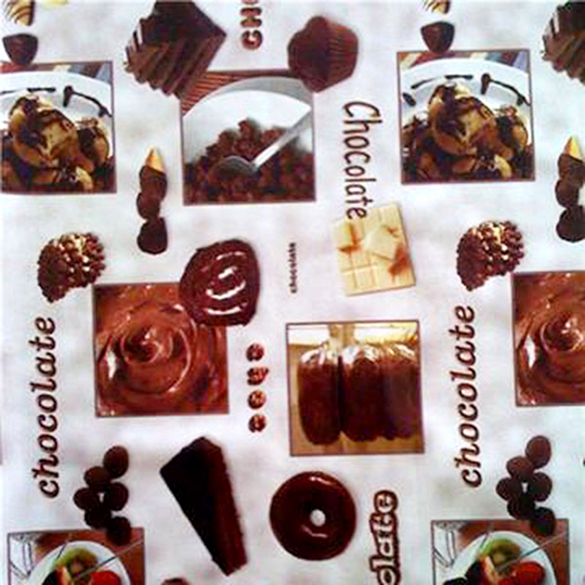 Chocolates Printed PVC Fabric