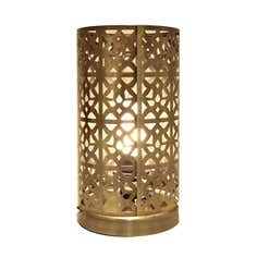 Metal Cut Out Table Lamp