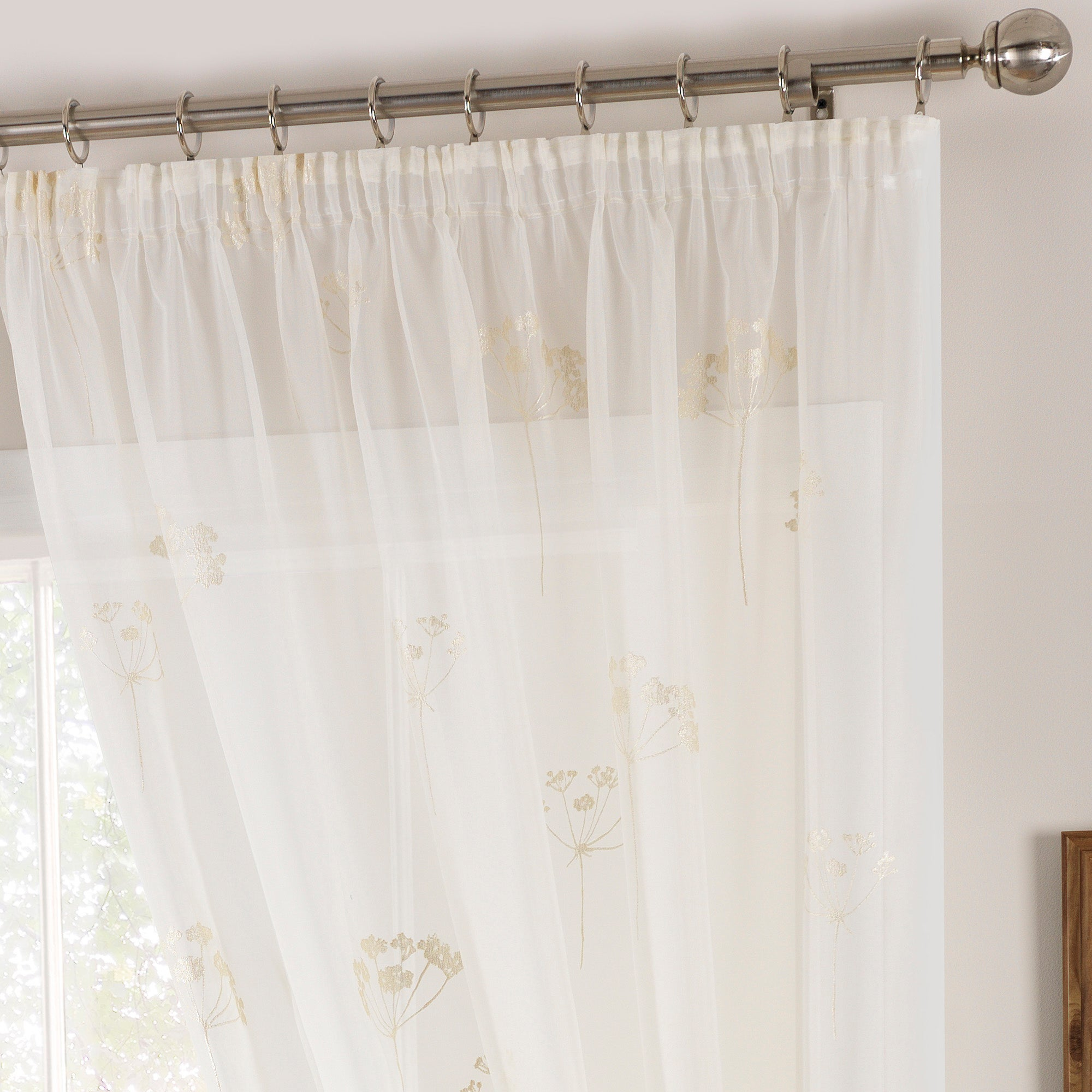 Cream Cicero Voile Panel