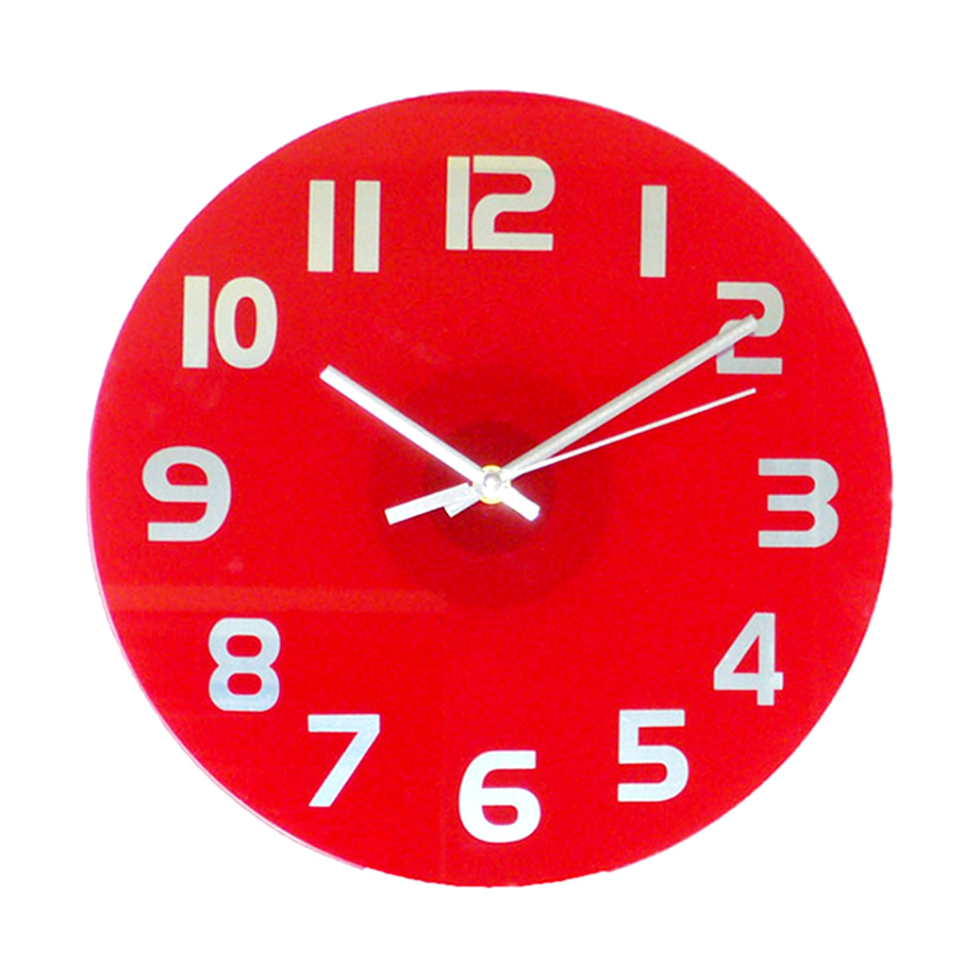 Red Crieff Glass Wall Clock