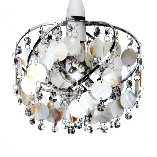 Capiz and Jewel Twist Ceiling Pendant