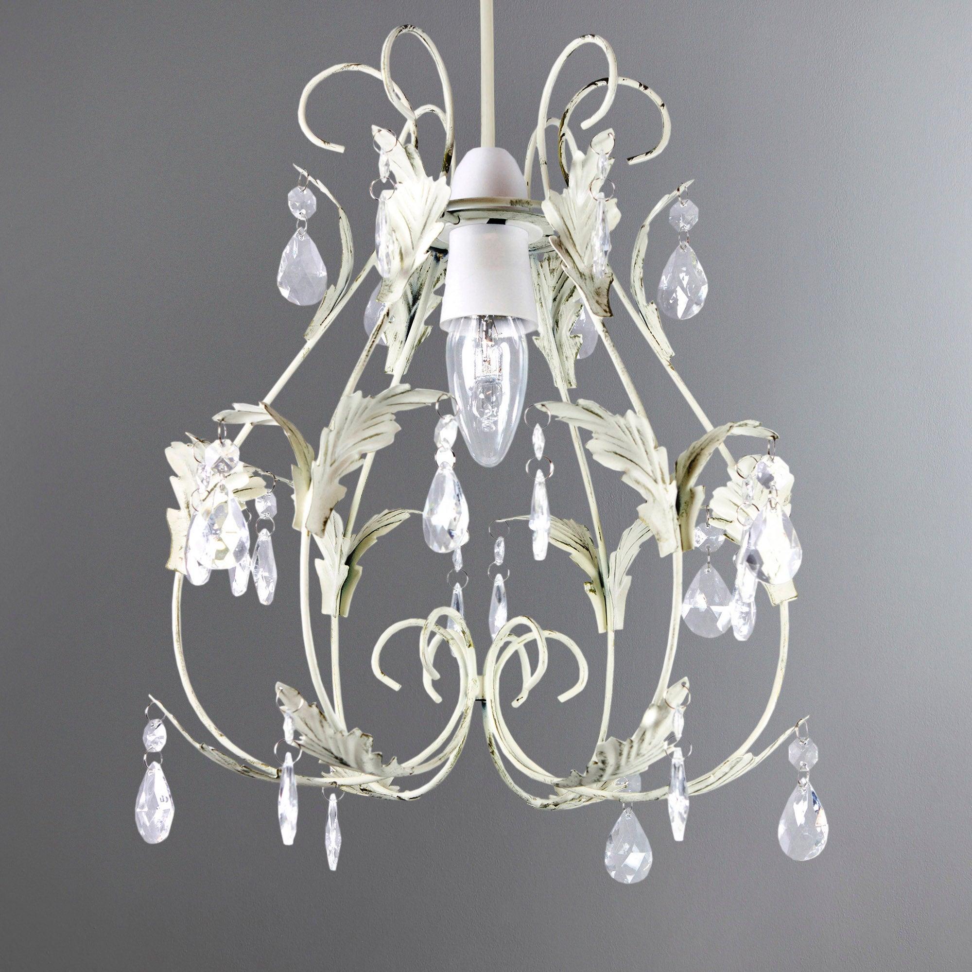 leaf and crystal pendant light fitting dunelm. Black Bedroom Furniture Sets. Home Design Ideas