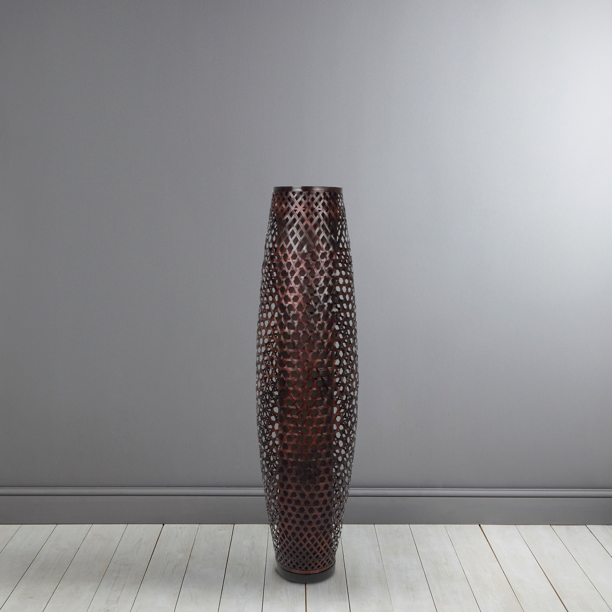 Wicker Lattice Floor Lamp