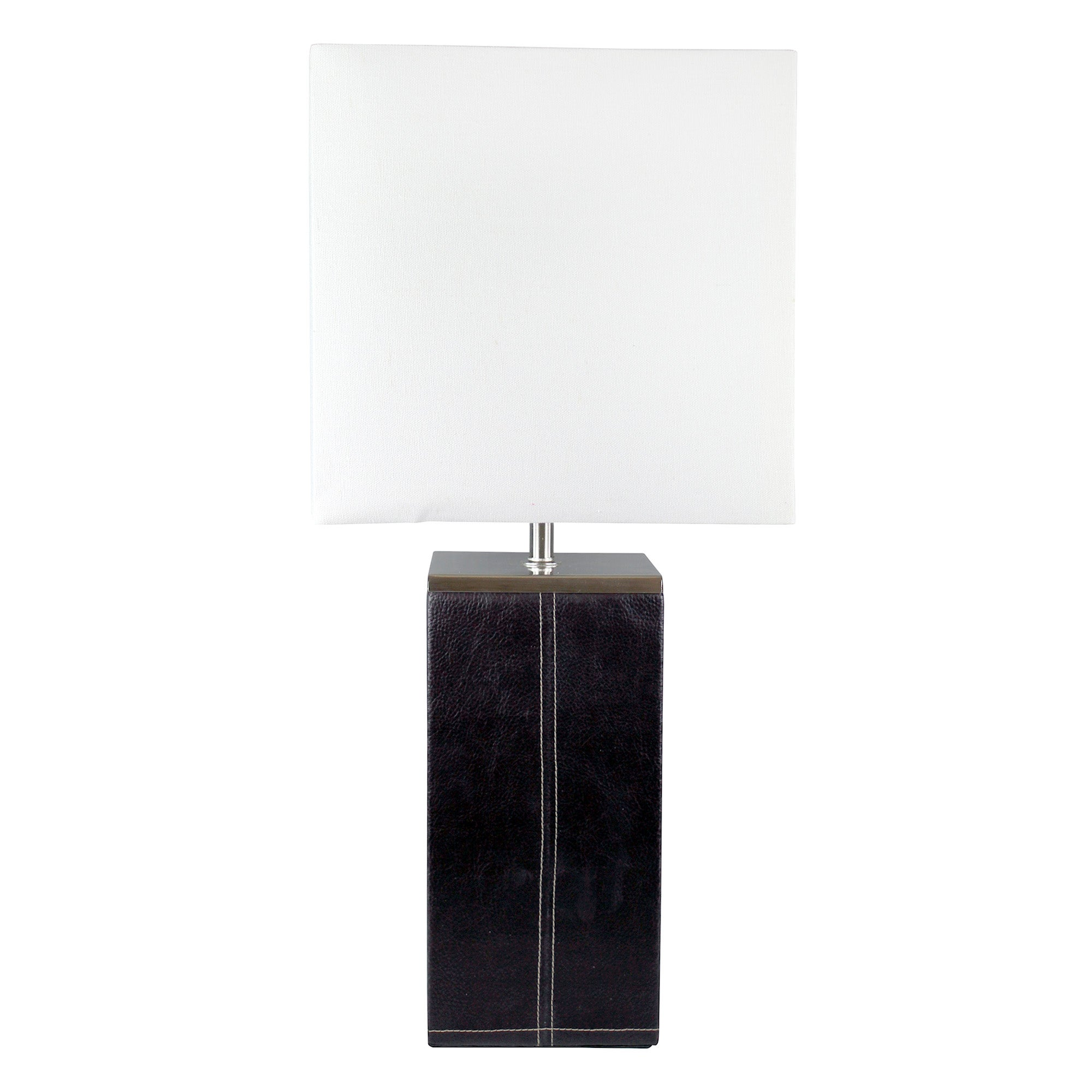 Large Leather Effect Table Lamp