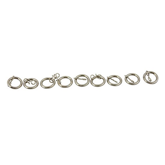 Ritz Collection Satin Steel Curtain Rings