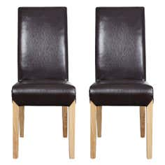 Milan Leather Faced Dining Chairs