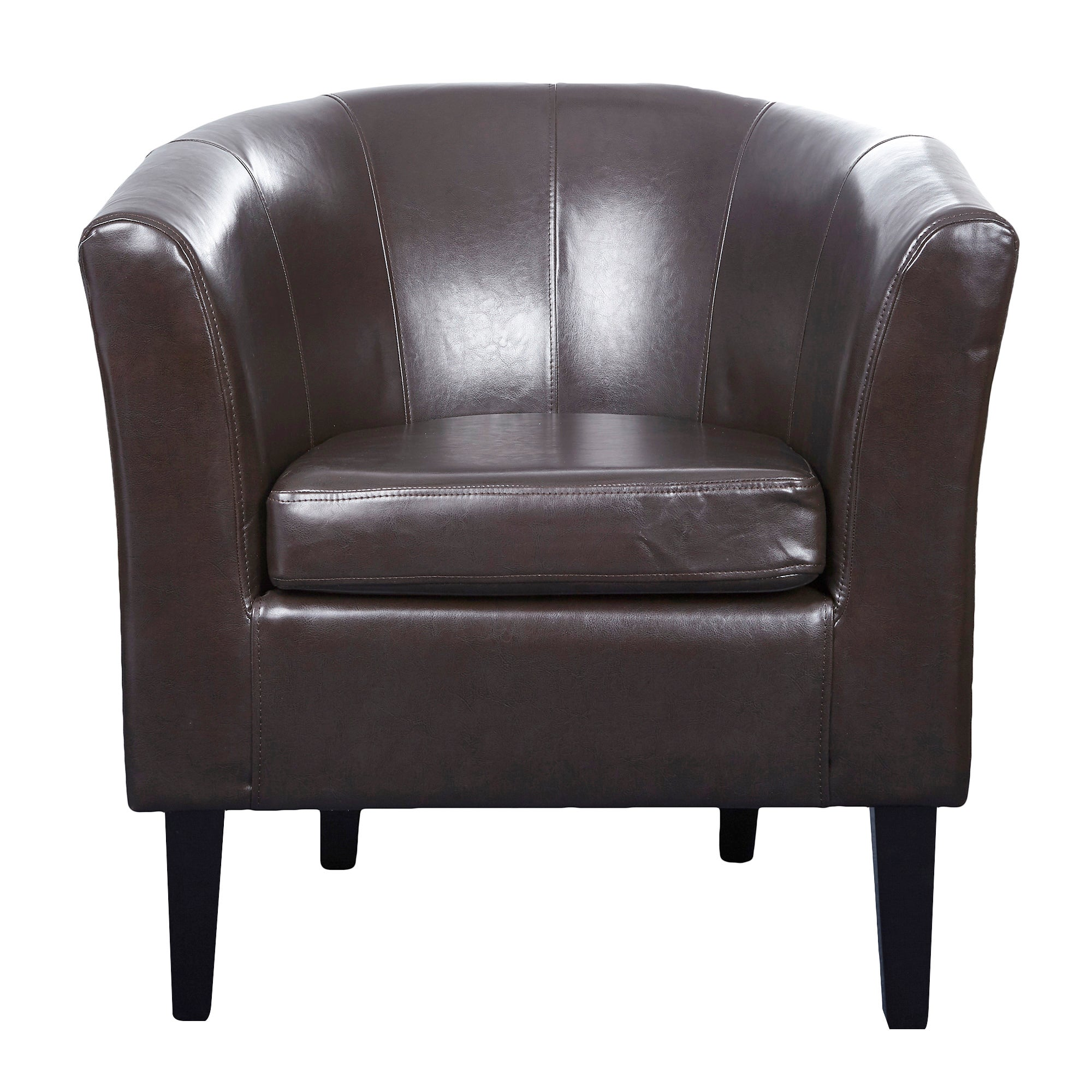 Milan Leather Faced Tub Chair