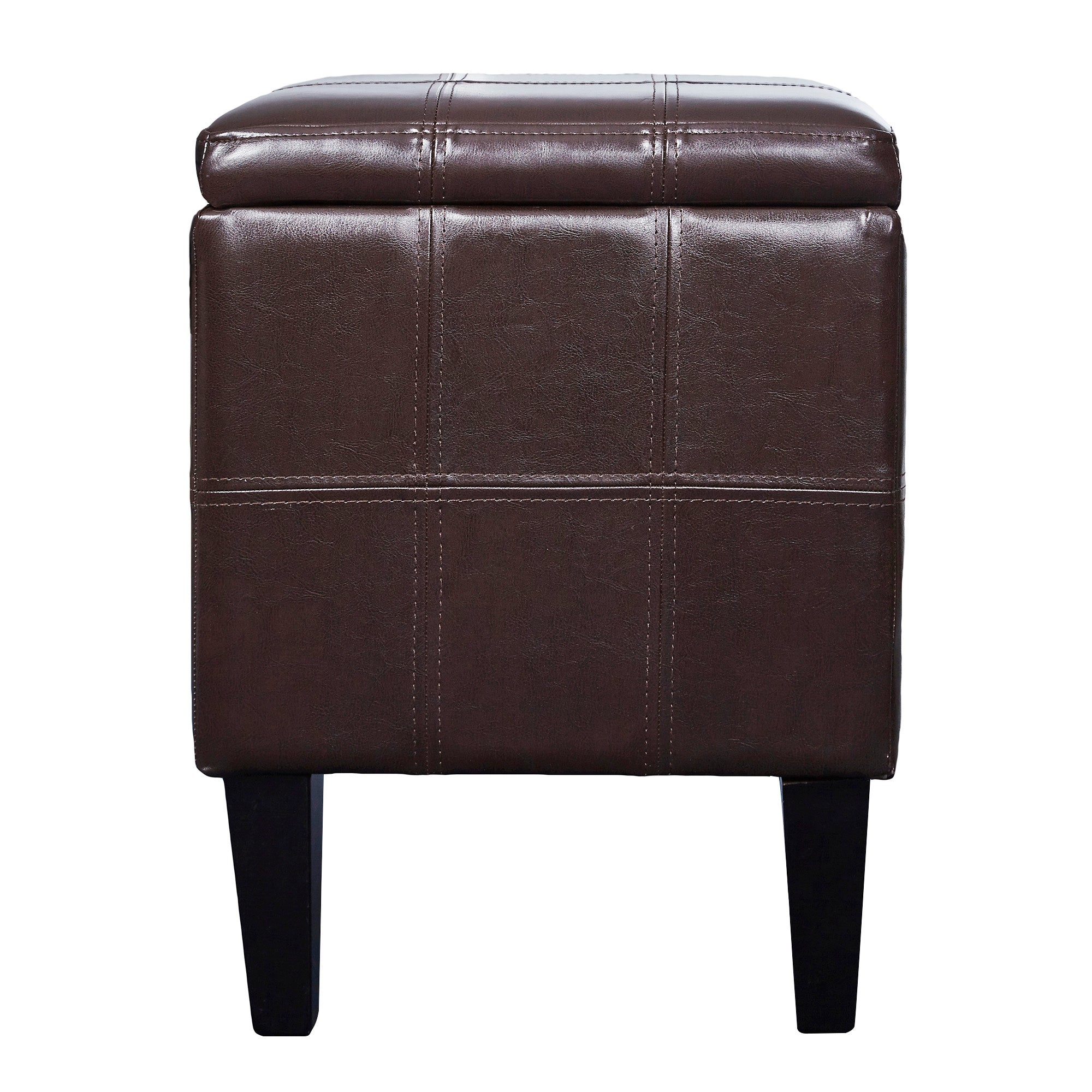 Milan Leather Faced Footstool