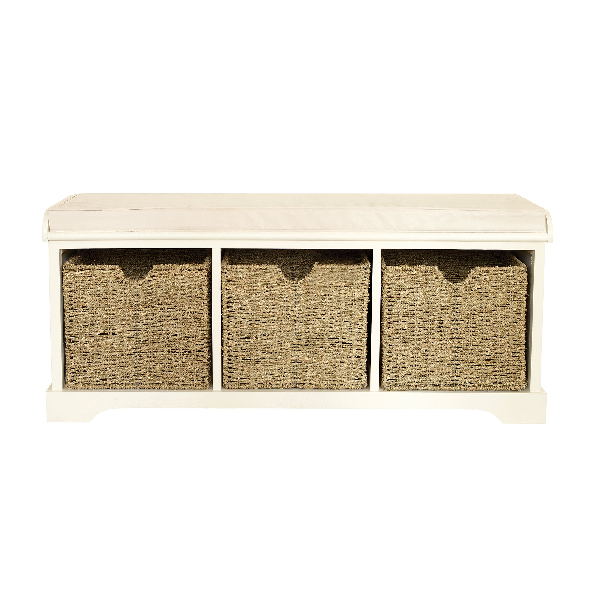 Cottage Ivory Storage Bench