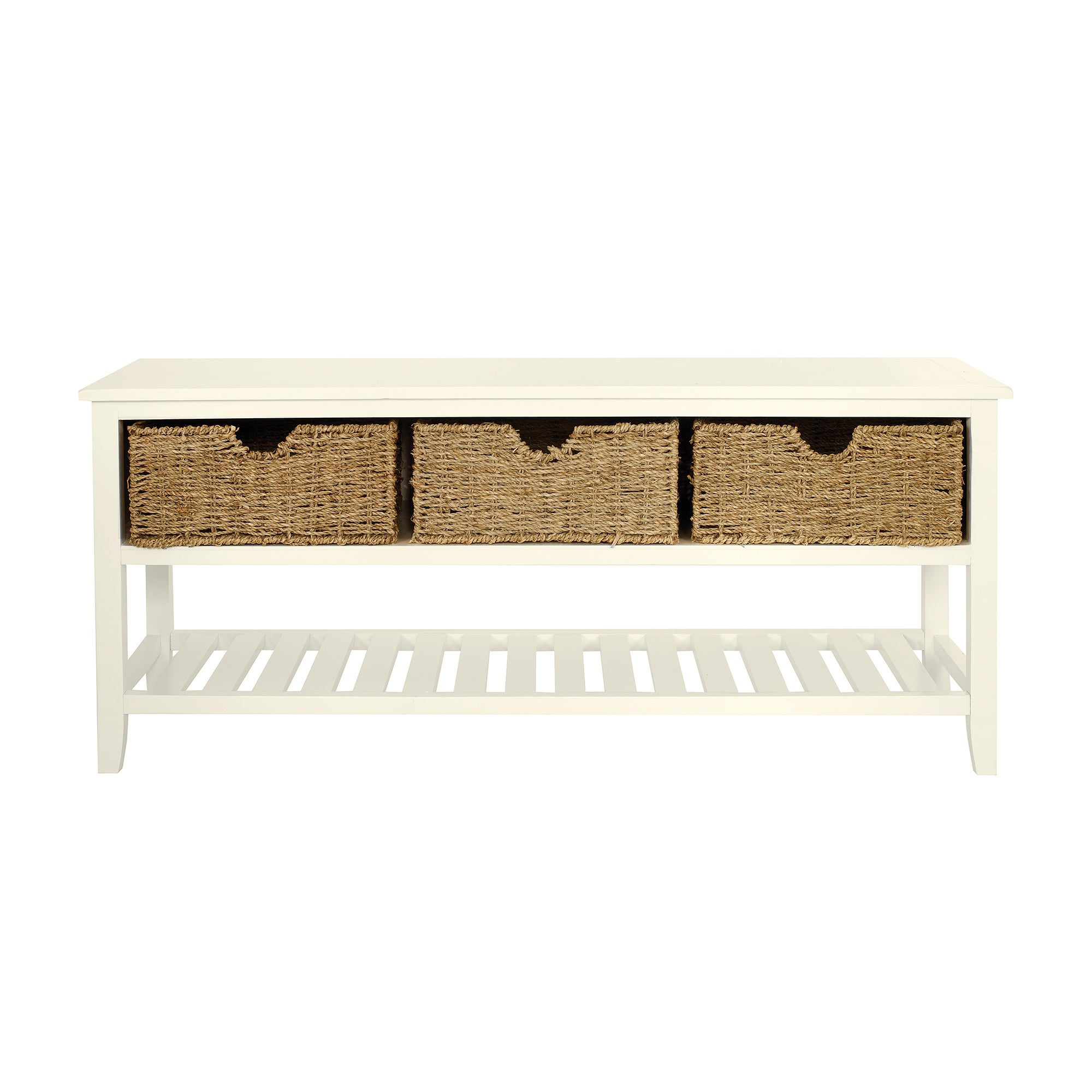 Cottage Ivory Shoe Bench