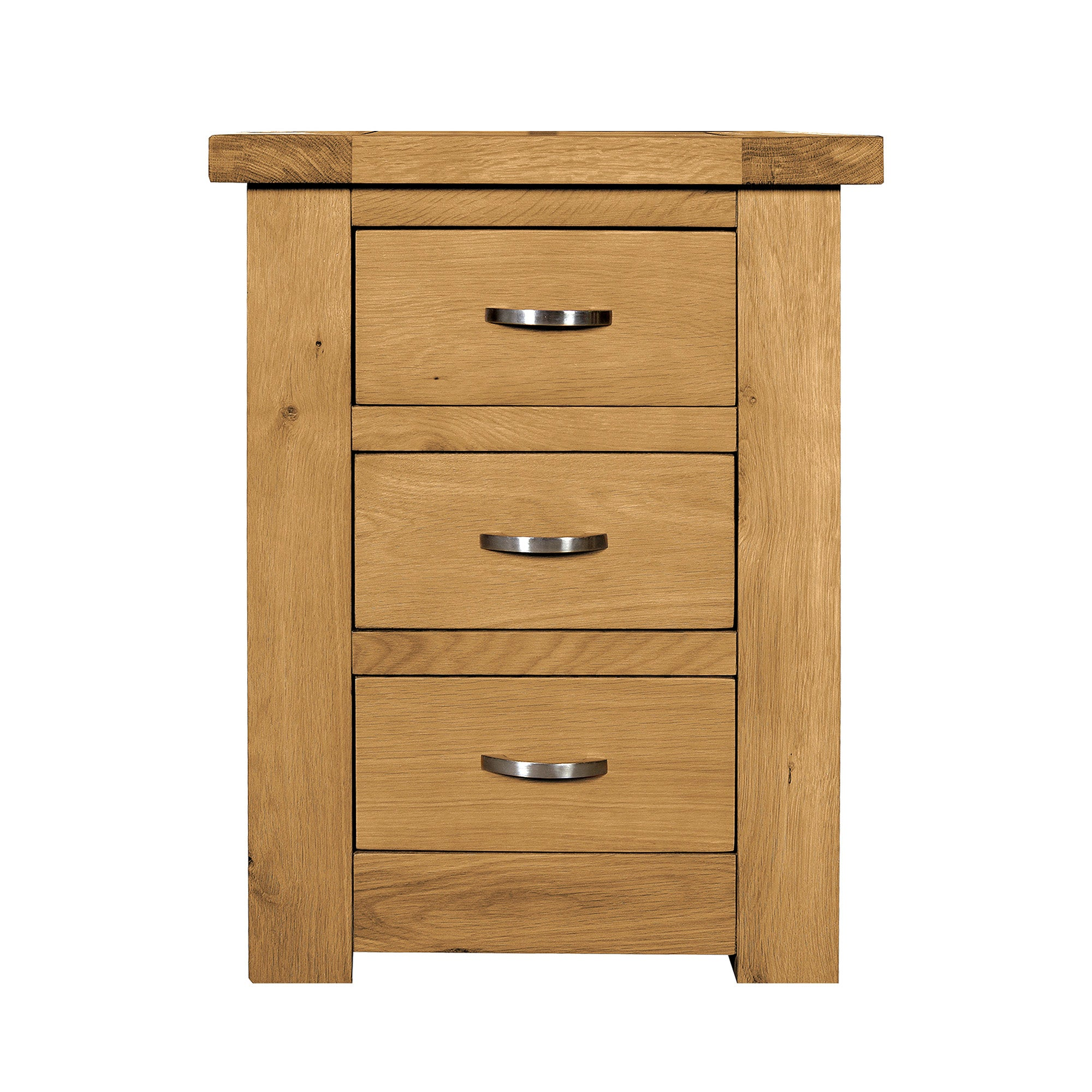 Richmond Oak 3 Drawer Bedside Unit Dunelm