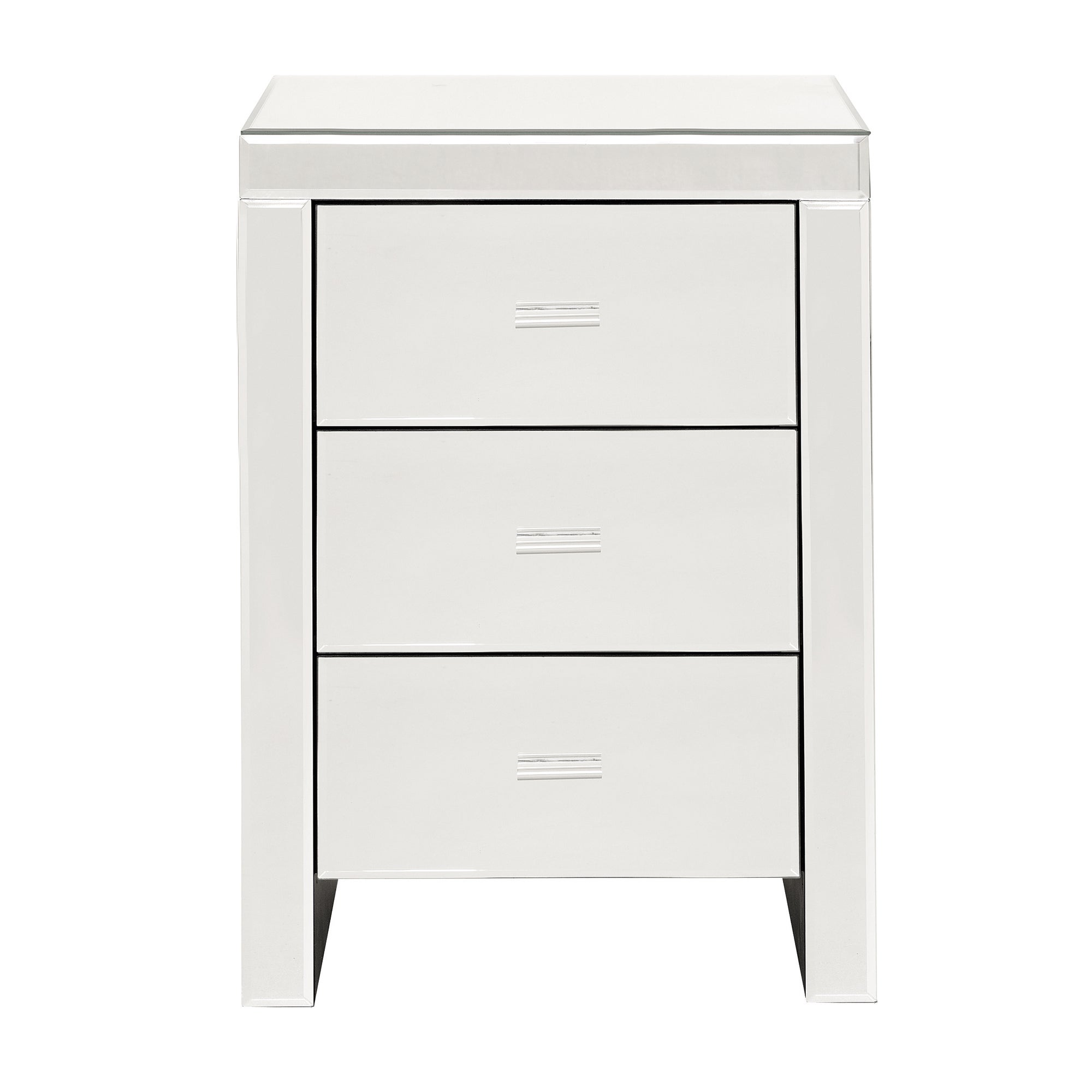 Venetian Mirrored 3 Drawer Bedside Unit