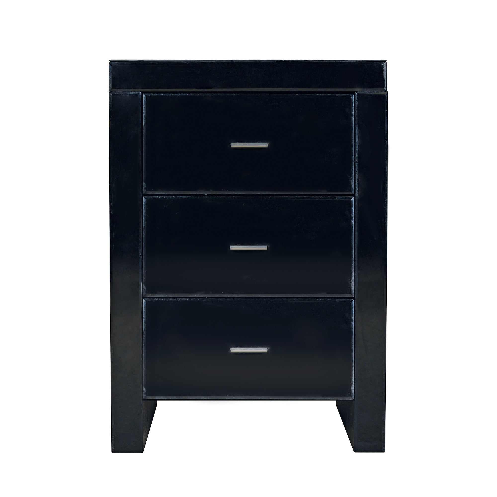 Venetian Black 3 Drawer Bedside Unit