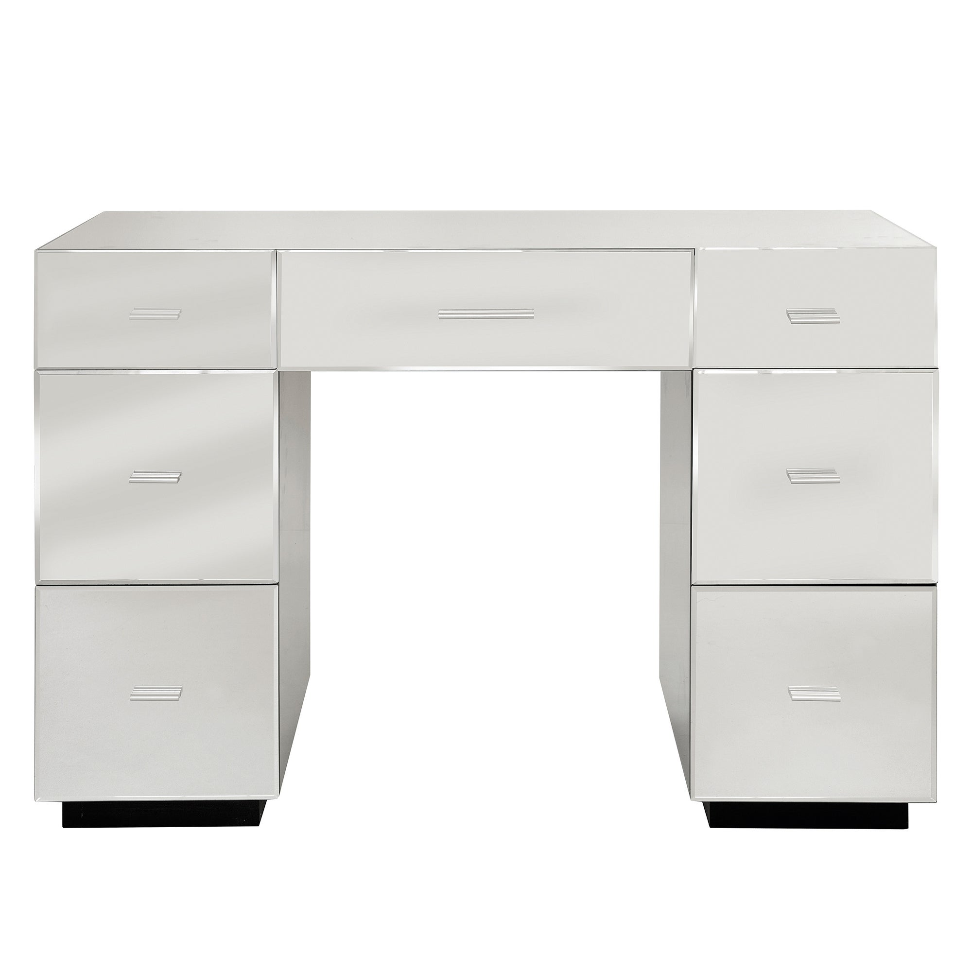 Venetian Mirrored Furniture 7 Drawer Dressing Table