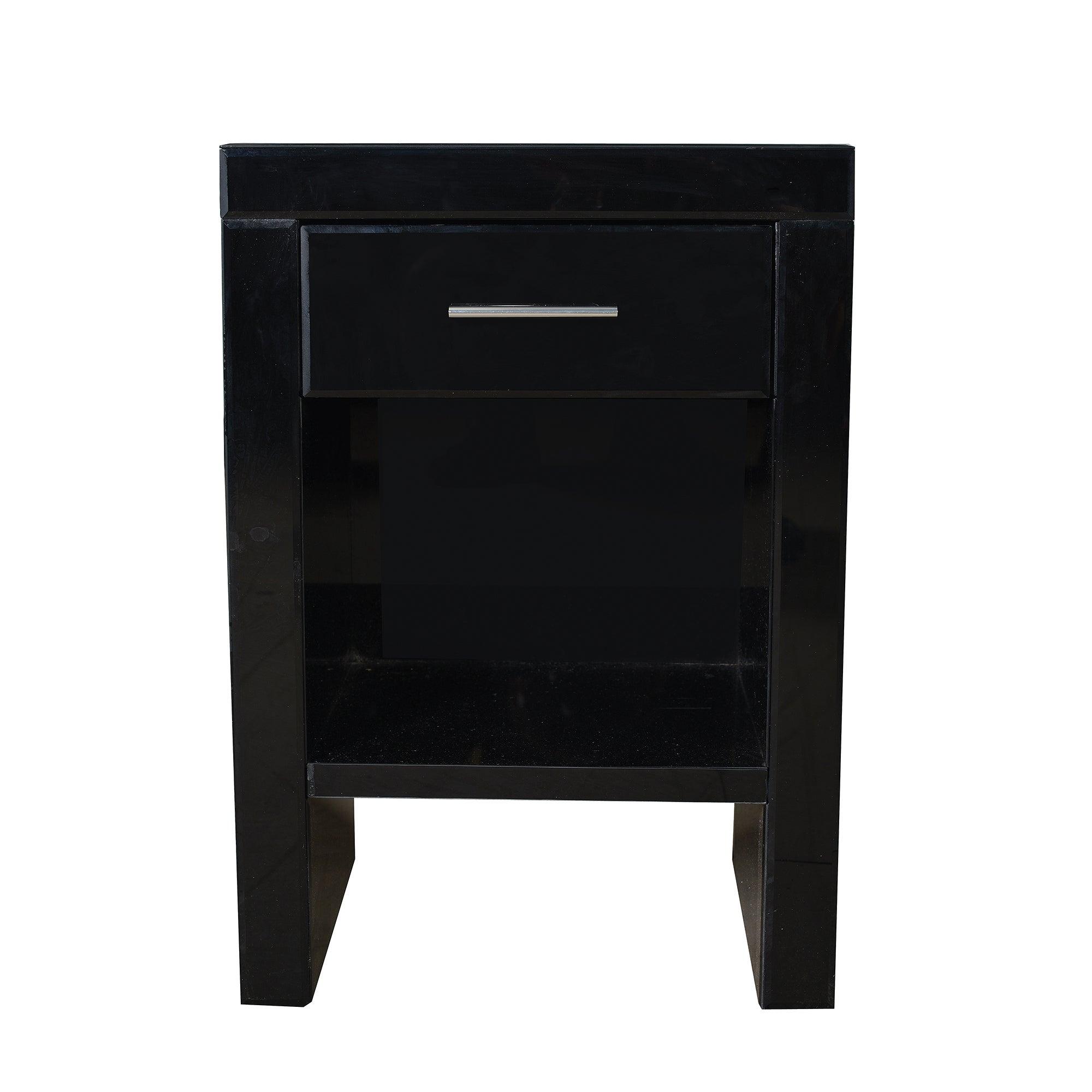 Venetian Black 1 Drawer Nightstand