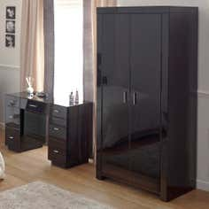 Venetian Black 2 Door Wardrobe