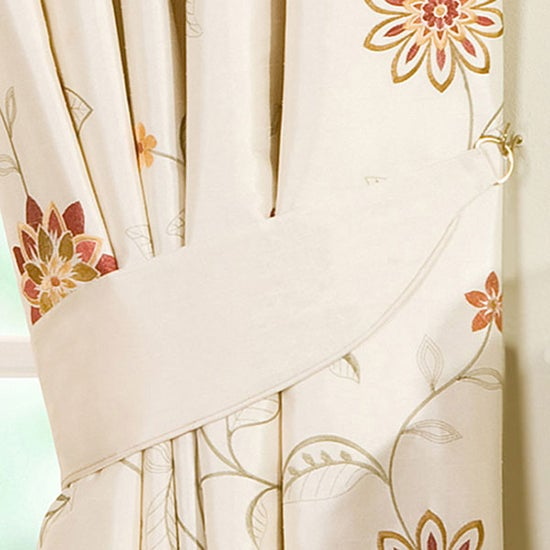 Cream Sienna Lined Curtain Collection